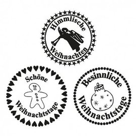 Stempel / Stamp: Transparent Stempel Transparant, Heavenly Kerstmis, A7