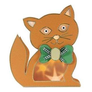 Schablonen, für verschiedene Techniken / Templates Plastik Schablone 3D Katze, Größe: 21 x 30 cm