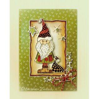 Leane Creatief - Lea'bilities Timbre Doodle, le Père Noël