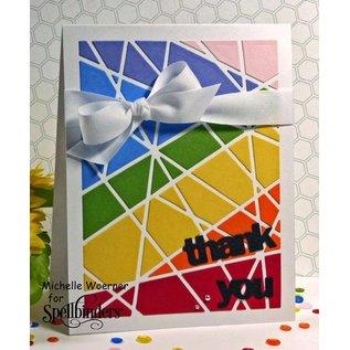 Spellbinders und Rayher Stanz- und Prägeschablone, Metallschablone Shapeabilities, Card Fronts / Glass Effects