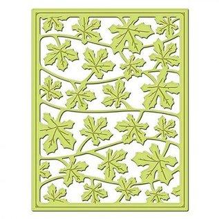 Spellbinders und Rayher Stempling og prægning stencil, metal stencil Shapeabilities, Card Fronter / faldende blade