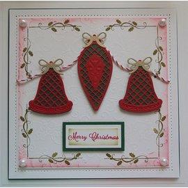 Spellbinders und Rayher Estampillage et gaufrage pochoir, Christmas Theme
