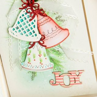 Spellbinders und Rayher Stempelen en embossing stencil, Kerstthema