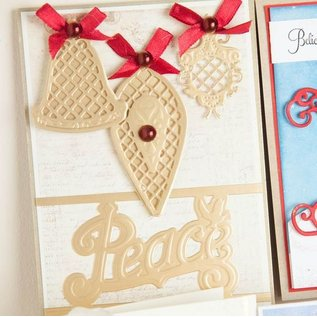 Spellbinders und Rayher Stamping and embossing stencil, Christmas Theme
