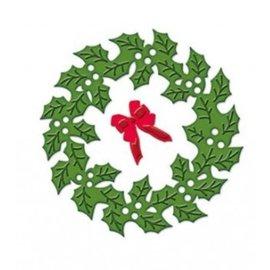 Spellbinders und Rayher Stansning og prægning stencil D-Lites, jul krans