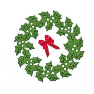 Spellbinders und Rayher Stanz- und Prägeschablone, Die D-Lites, Weihnachtskranz