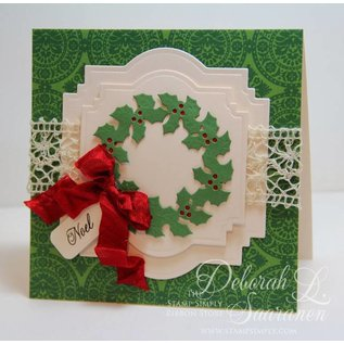 Spellbinders und Rayher Punching and embossing stencil The D-Lites, Christmas wreath