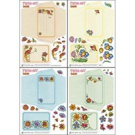 KARTEN und Zubehör / Cards Bastelset sobre design de Twin-Set Cartões