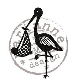 Marianne Design francobolli trasparente disegno Marianne, Storch