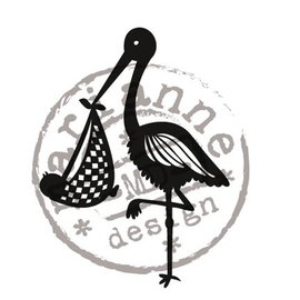 Marianne Design Gennemsigtig frimærker Marianne design, Storch