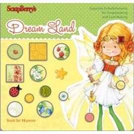 Embellishments / Verzierungen Set van Brads 15 stuks, Dreamland