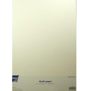 BASTELZUBEHÖR, WERKZEUG UND AUFBEWAHRUNG Kraftpapier A4 in weiß, 20 Blatt
