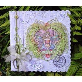 CREATIVE EXPRESSIONS und COUTURE CREATIONS Stampaggio e goffratura stencil, stencil metallo 3 Felci