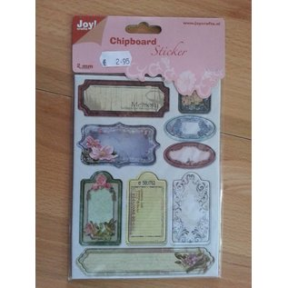Joy!Crafts / Hobby Solutions Dies 10 chipboard stickers, 2mm thick