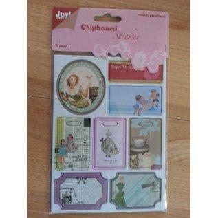 Joy!Crafts / Jeanine´s Art, Hobby Solutions Dies /  10 spånplader klistermærker, 2mm tyk