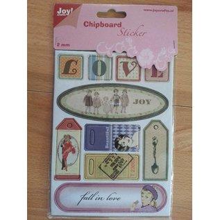 Joy!Crafts / Hobby Solutions Dies 10 Chipboards Sticker, 2mm dick