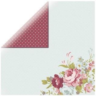 Designer Papier Scrapbooking: 30,5 x 30,5 cm Papier Designer paper, roses
