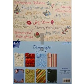Joy!Crafts / Hobby Solutions Dies Designer Block, blocco A4 di carta, Natale