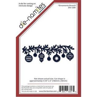 Die-namics Stanz- und Prägeschablone, Die-namites, Weihnachtskugel Girlande