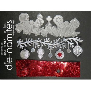 Die-namics Stempling og prægning stencil, The-namites, jul bold krans