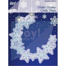 Joy!Crafts Stempling og prægning stencil, kreds af stjerner