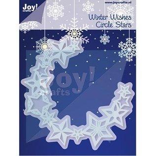 Joy!Crafts / Hobby Solutions Dies Stempelen en embossing stencil, cirkel van sterren