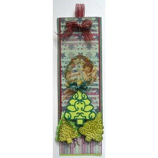 Joy!Crafts / Jeanine´s Art, Hobby Solutions Dies /  Estampage et gaufrage pochoir, 3 arbres de Noël