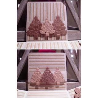 Joy!Crafts / Hobby Solutions Dies Estampage et gaufrage pochoir, 3 arbres de Noël