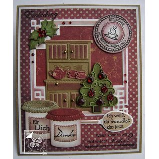 Joy!Crafts / Hobby Solutions Dies Stamping and embossing stencil, 3 Christmas trees
