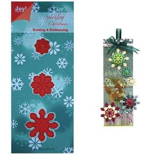 Joy!Crafts / Jeanine´s Art, Hobby Solutions Dies /  Stempling og prægning stencil, 3 iskrystaller