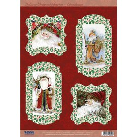BASTELSETS / CRAFT KITS Bastelset for 4 Christmas Cards