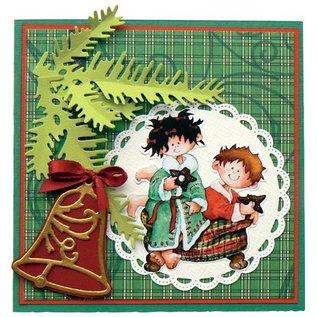 Marianne Design Stempling og prægning stencil, 2 jul bolde