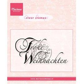 Marianne Design Transparent Stempel, Marianne Design, Text: Frohe Weihnachten