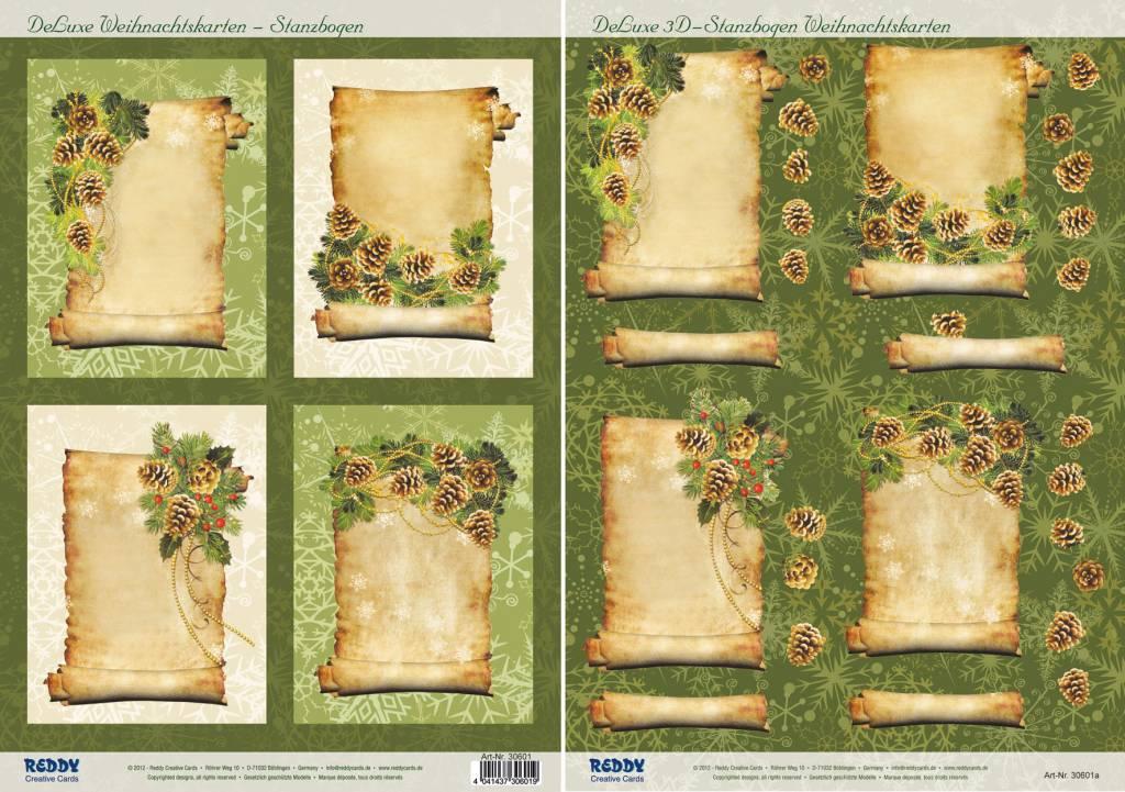 2 deluxe stanzbogen hintergrund bilder mit goldenen rahmen 3d stanzbogen ihr www hobby. Black Bedroom Furniture Sets. Home Design Ideas