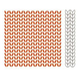 Marianne Design Gauffrage + assortie d'estampage et de gaufrage pochoir, modèles de tricot
