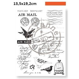 Marianne Design Transparente Stempel, Eline's Huis Airmail