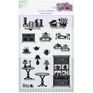 Joy!Crafts / Hobby Solutions Dies Transparent stamps, Joy, Love Home