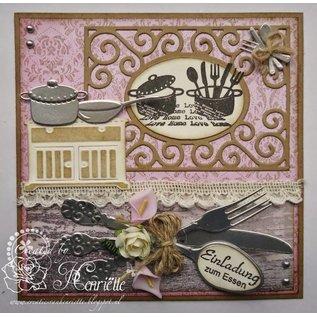 Joy!Crafts / Jeanine´s Art, Hobby Solutions Dies /  Transparente Stempel, Joy, Love Home
