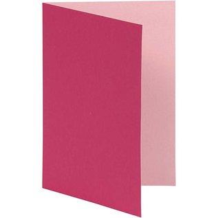 KARTEN und Zubehör / Cards Brev card størrelse 10,5x15 cm, pink / pink, 10 stykker