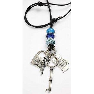 Schmuck Gestalten / Jewellery art Glazen kralen Harmony, D: 13-15 mm, blauwe tinten, gerangschikt 10