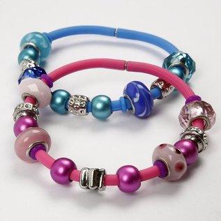 Schmuck Gestalten / Jewellery art Perles de verre Harmony, D: 13-15 mm, tons bleus, classé 10