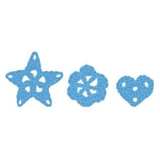 Marianne Design Stampen en Embossing stencil, Marianne Design, Motief: Bloemen gehäckelte