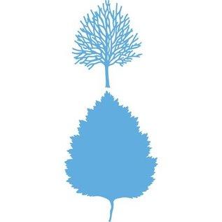 Marianne Design Stempling og prægning stencil, Marianne Design, Design: Træ + træ skitse