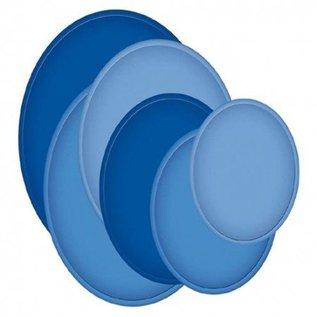 Spellbinders und Rayher Spellbinders Stanz- und Prägeschablone, Metallschablone Große Nestabilities, Ovale groß