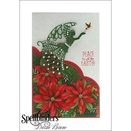 Spellbinders und Rayher Estampillage et gaufrage pochoir, ange avec oiseau