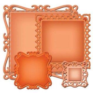 Spellbinders und Rayher Spellbinders Stamping and Embossing stencil, Spellbinders nestabilities, decorative ornamental frame