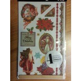 Embellishments / Verzierungen 20% SALE! Rubbeltransfers, Christmas motives - ONLY 2 in stock!