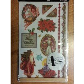 Embellishments / Verzierungen Rub-on transfers, Christmas themes