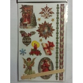 Embellishments / Verzierungen Rub-on transfers, kerst thema's
