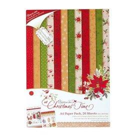 Karten und Scrapbooking Papier, Papier blöcke Designerblock, A4 Paper Pack, At Christmas Time